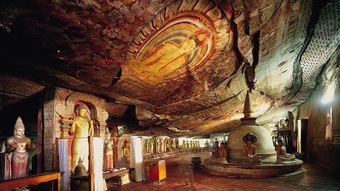 <P>Grottorna i Dambulla</P>