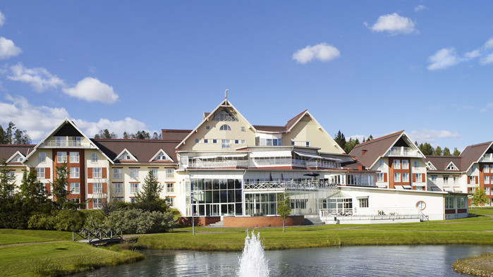 Vi bor bekvämt på trivsamma Selma Spa Hotel i Sunne.